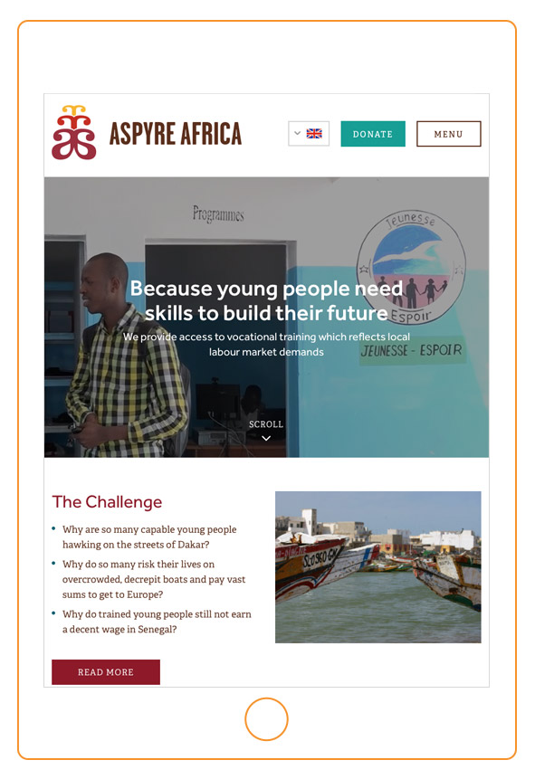 charities print web design