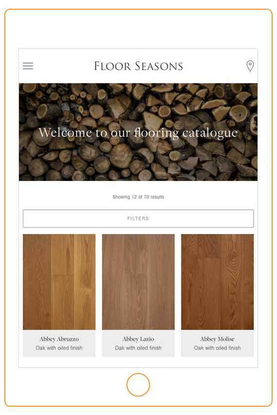 Web design for interiors specialists