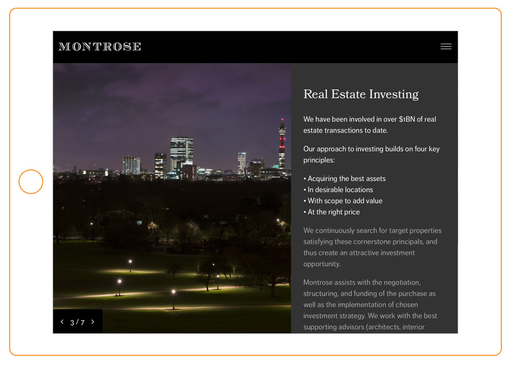 property and real estate graphic and web design
