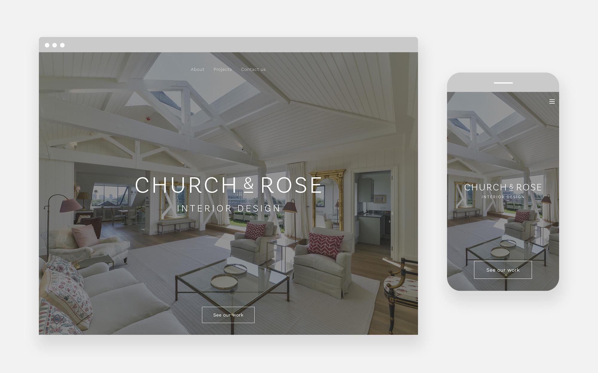 Church & Rose Web Design 1