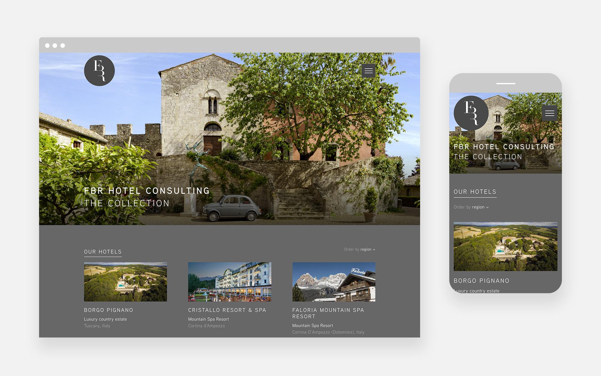 FBR Hotel Consulting Website Design 1