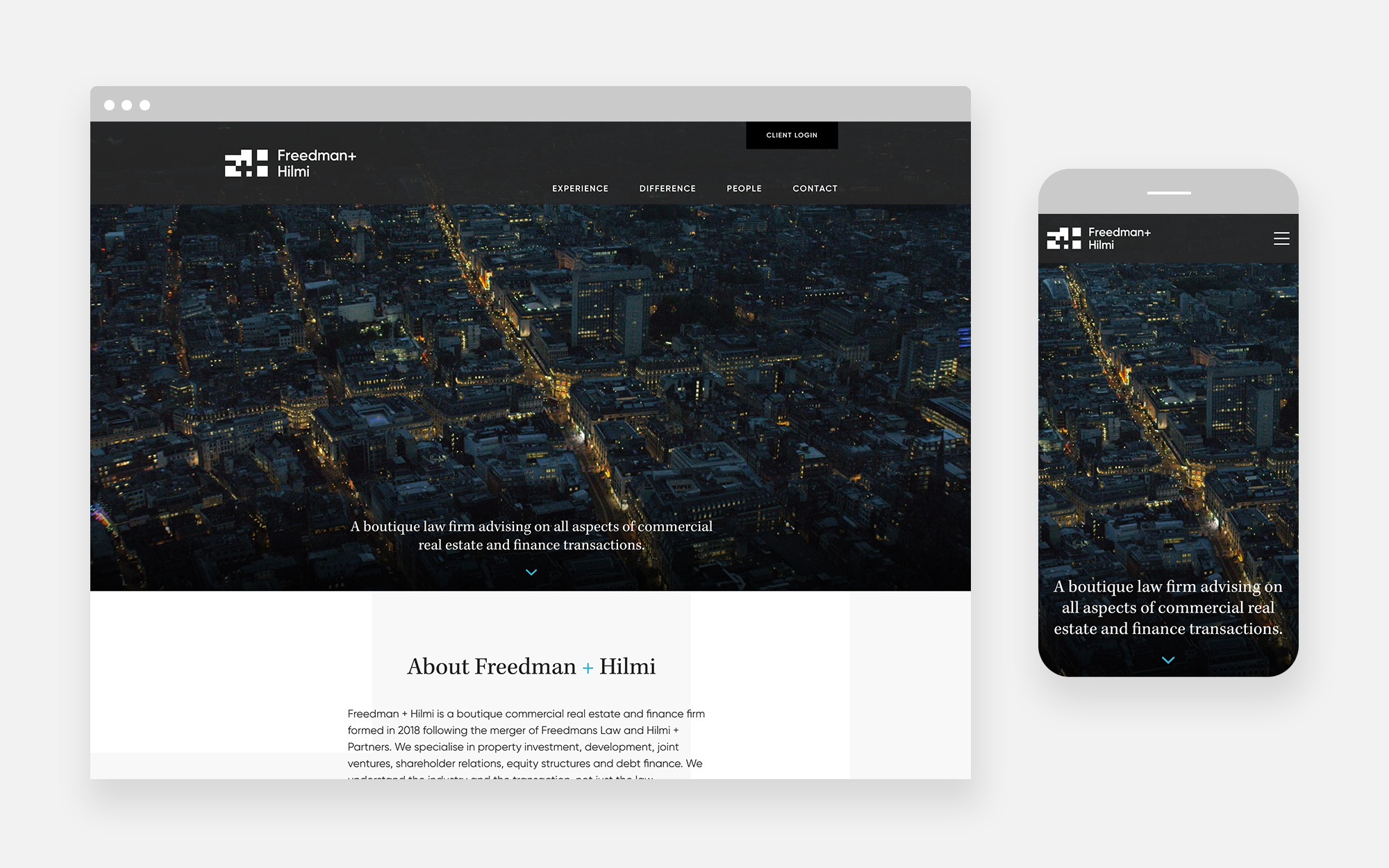 Freedman Hilmi Web design 1
