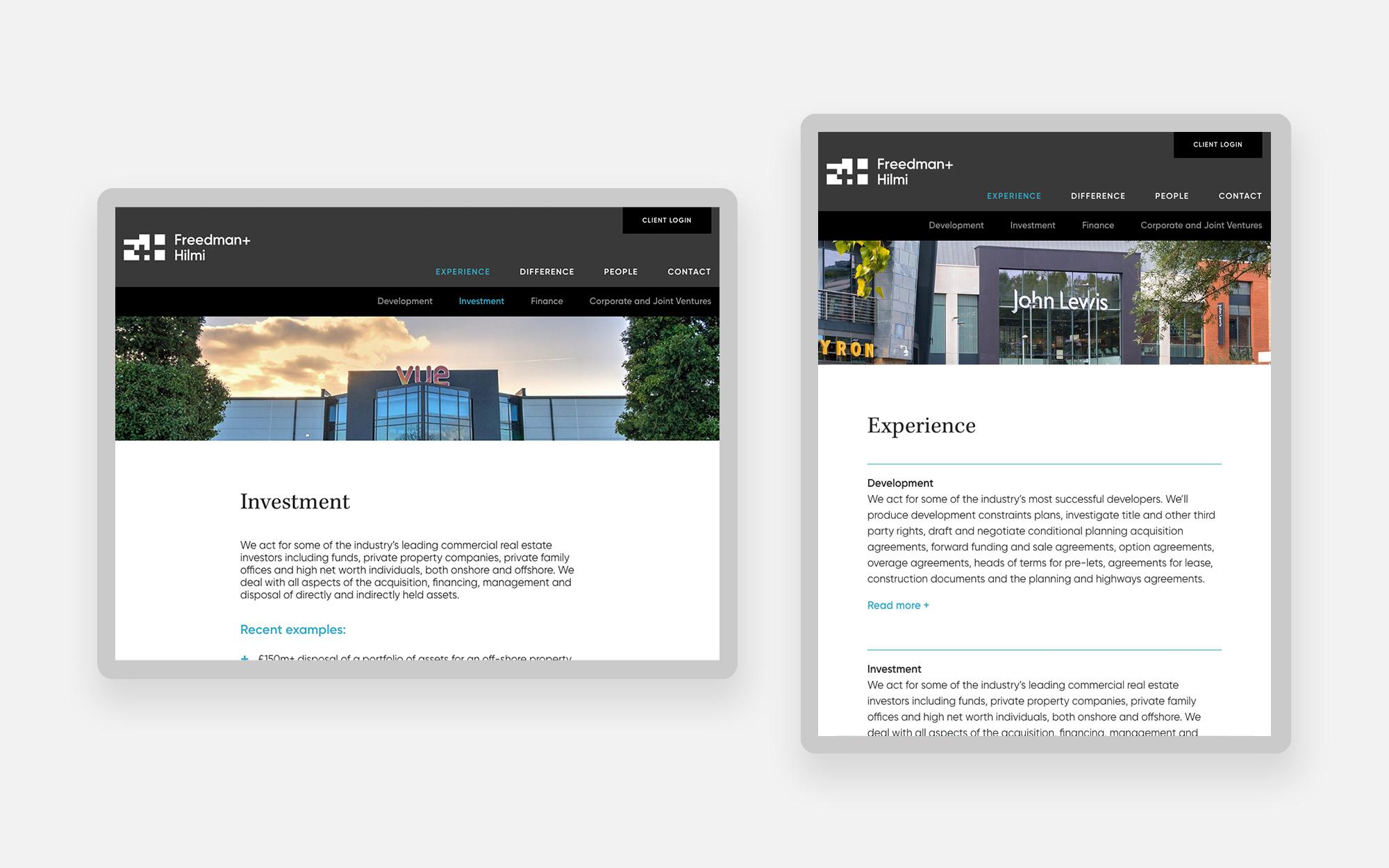 Freedman Hilmi Web design 2