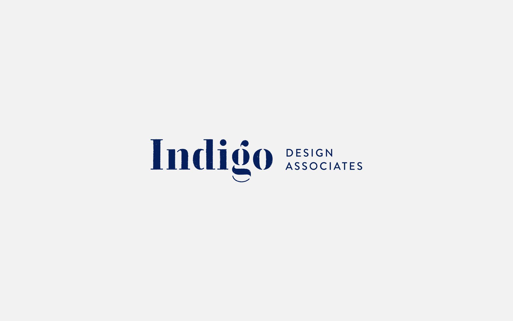 Indigo design associates logo design