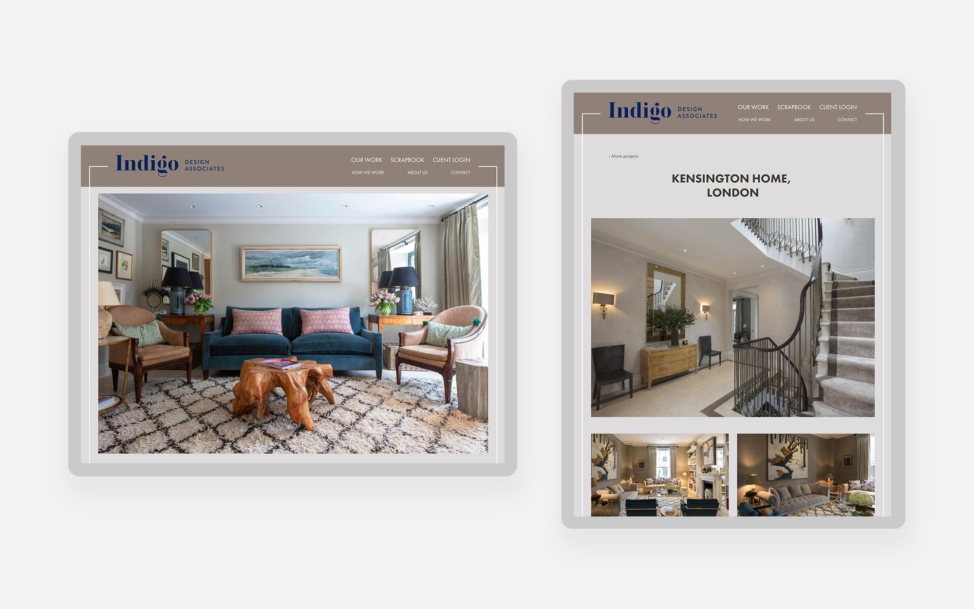 Indigo design associates website design 2