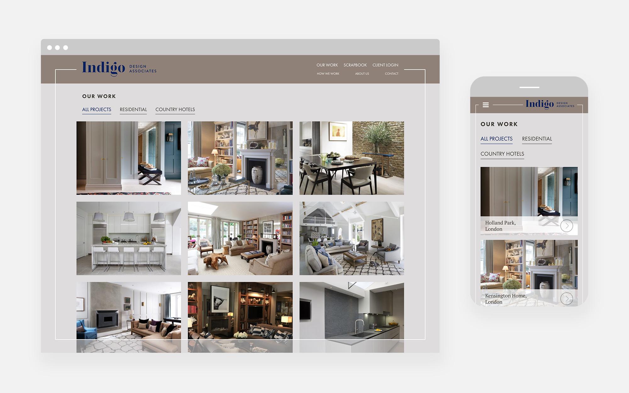 Indigo design associates website design