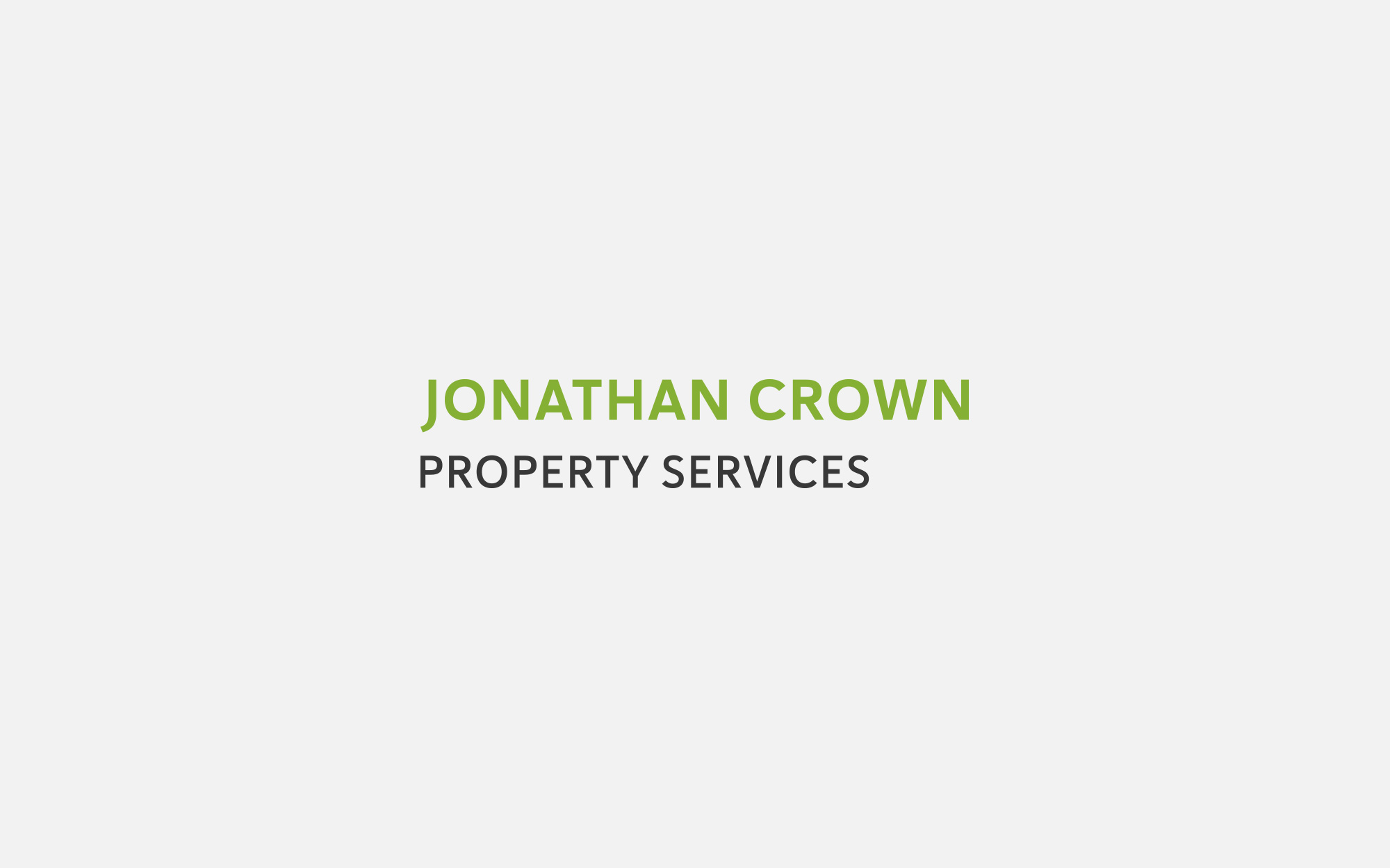 Jonathan Crown Property Services Logo design