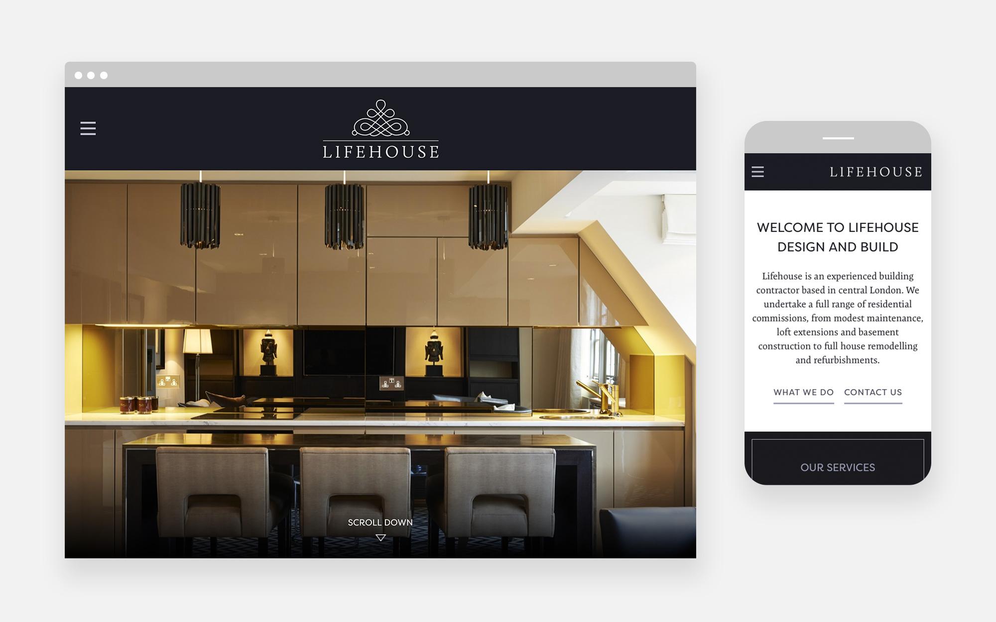 Lifehouse website design 1