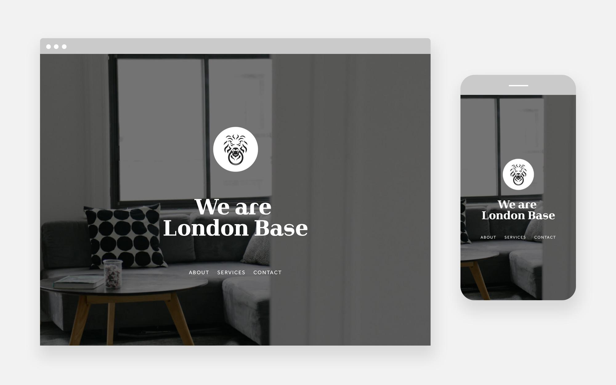 London Base website design 1