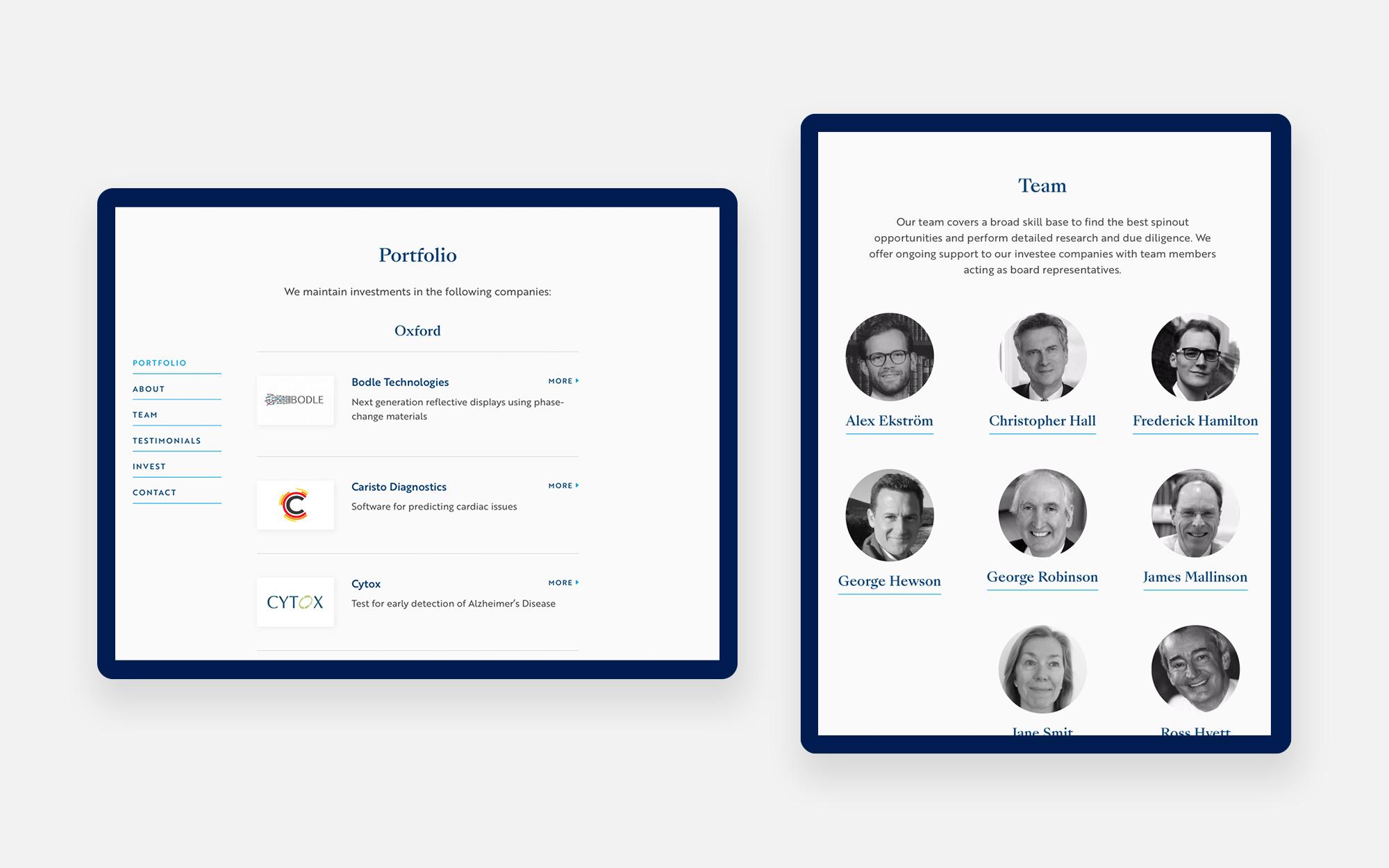 Oxford Investment Consultants Web Design 2