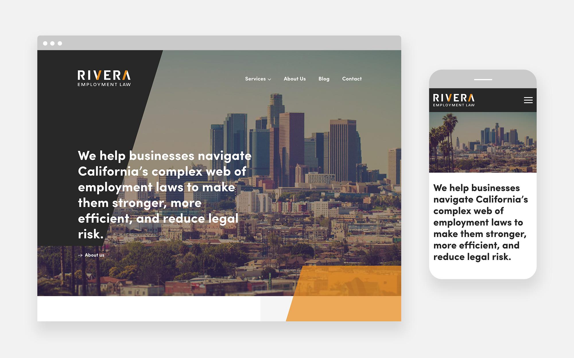 Rivera Employment Law Web Design Design 1