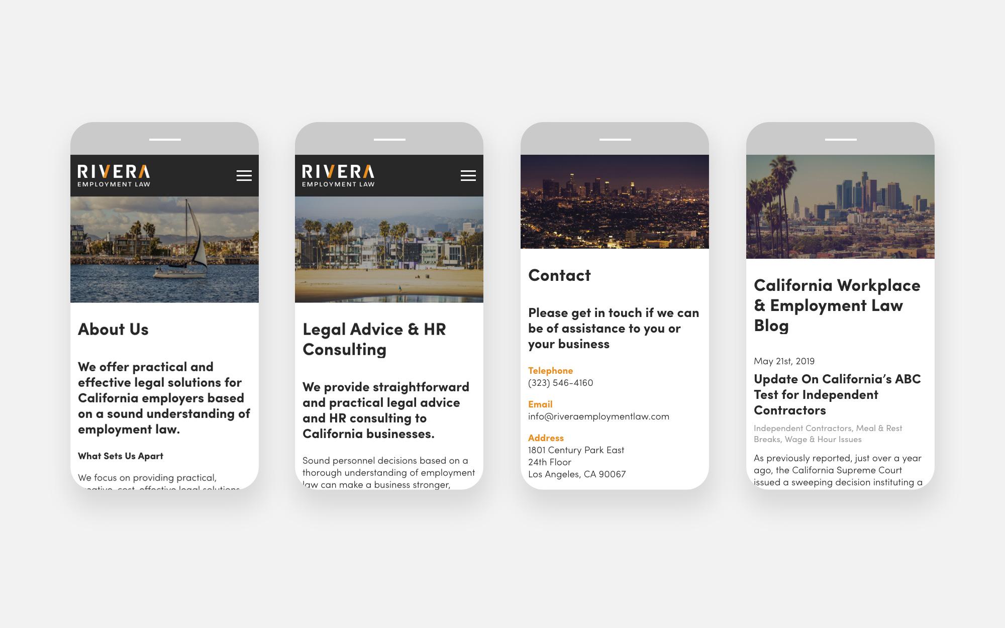 Rivera Employment Law Web Design Design 3