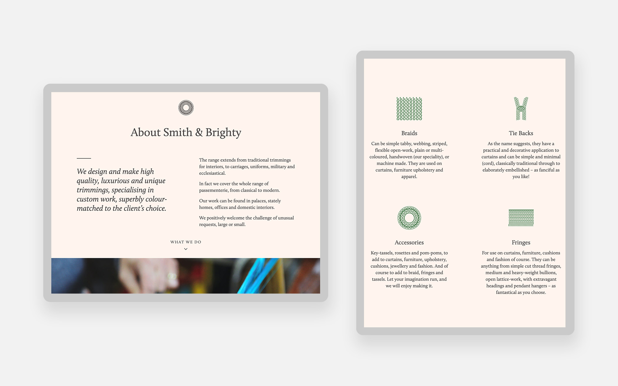 Smith and Brighty website design 2