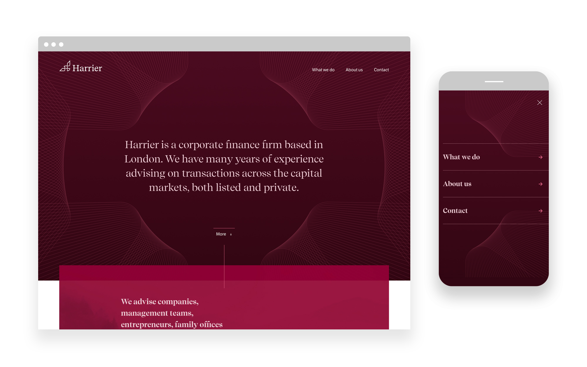 financial services branding and web design