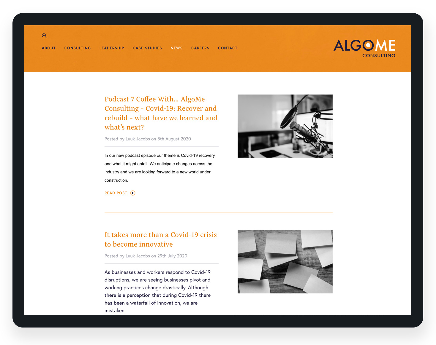 Redesign a consultancy website