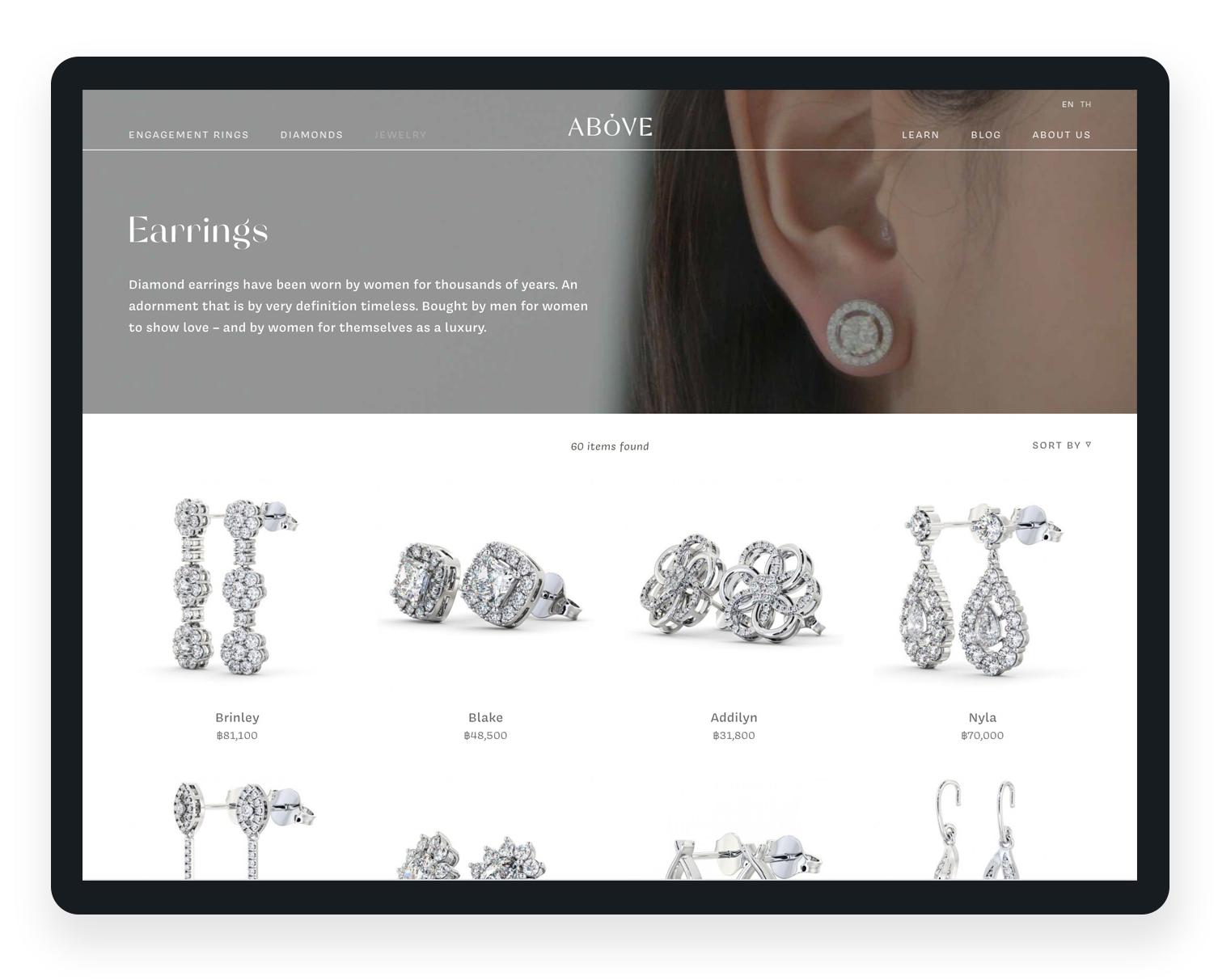 diamond jewellery website design