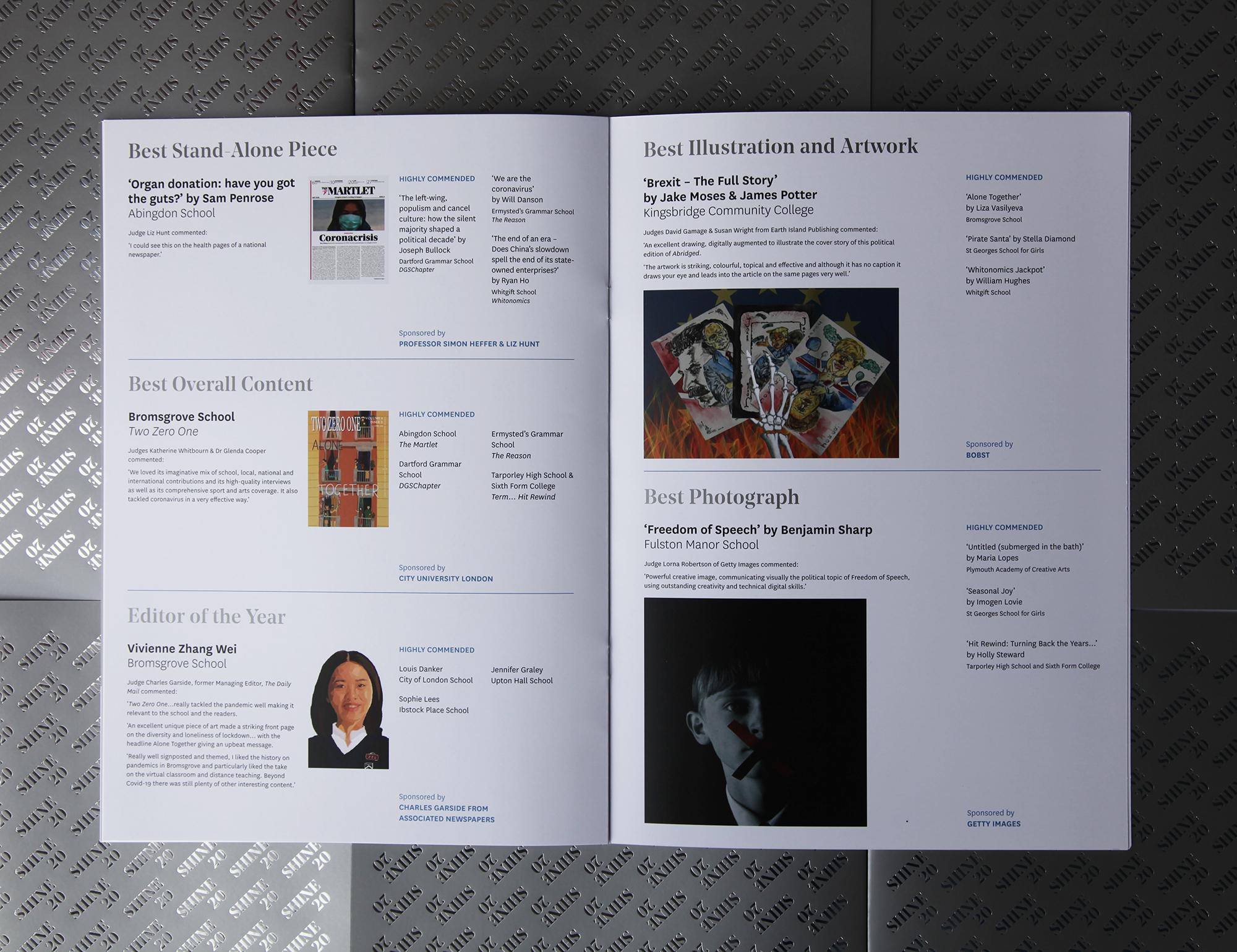 print award nomination